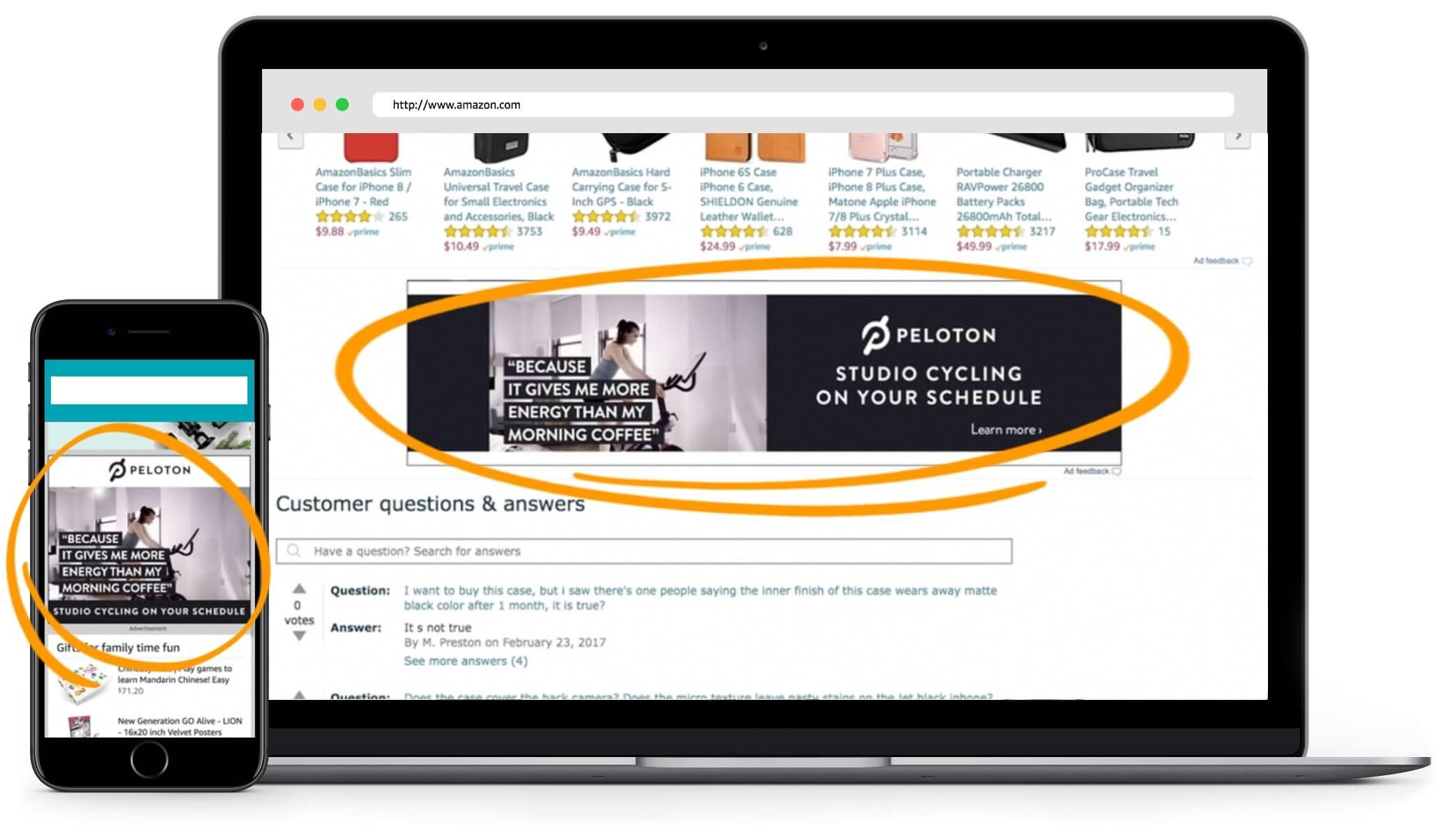 Amazon advertising Peloton Video