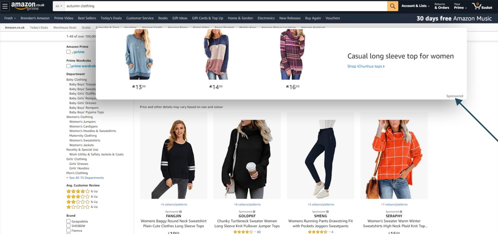 Amazon-co-uk-autumn clothing